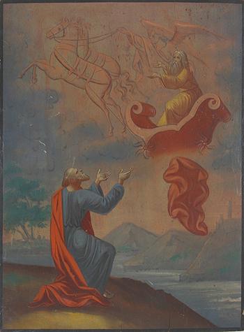 Вознесение пророка Илии. Икона 19 в.