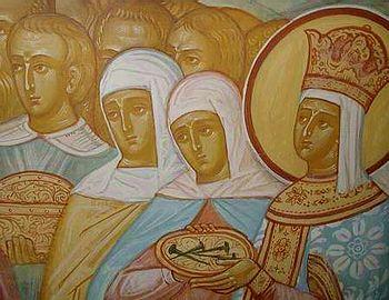 Гвозди Креста Господня. Роспись Крестовоздвиженской церкви Толгского монастыря (фрагмент)