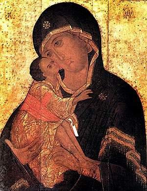 Донская  икона Божией Матери. Список XVI в.