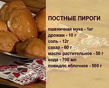 Постное тесто для пирогов рецепт с