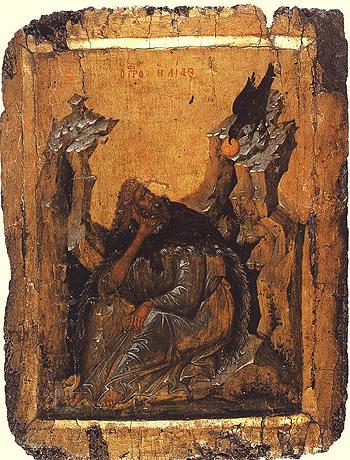 Св. прор. Илия. Икона 14 в.