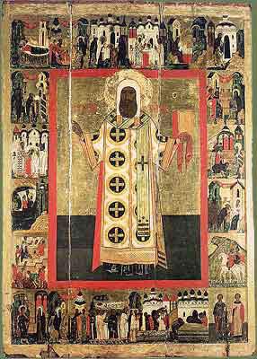 Святитель Петр, Митрополит Московский. Икона с житием