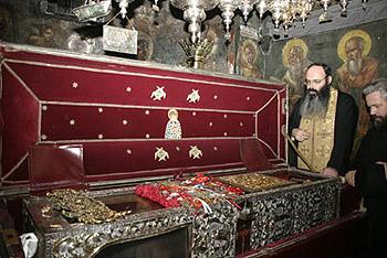 Рака с мощами свт.Спиридона Тримифунтского (фото - сайт Серафимо-Дивеевского монастыря)