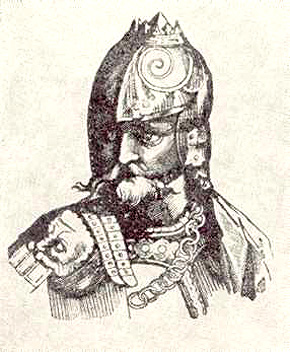 Великий князь Гедимин. Гравюра XVII в.