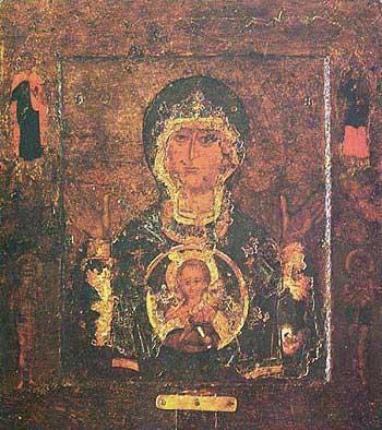 Икона Божией Матери Знамение. XII в. (собор Св. Софии в Новгороде)