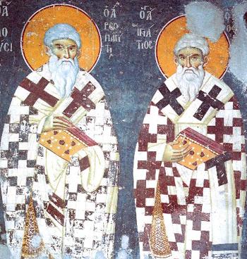 Святители Дионисий Ареопагит и Игнатий Богоносец