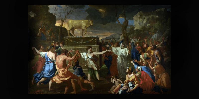 В Лондоне представили «Поклонение золотому тельцу» Пуссена ...