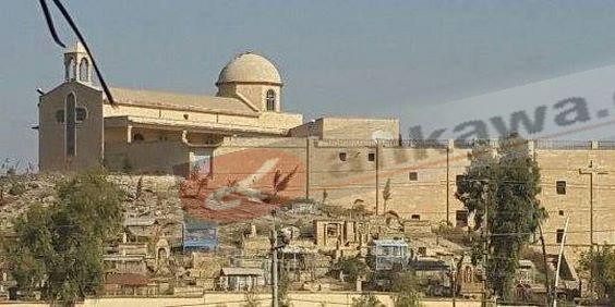 Храм монастыря св. Георгия в Мосуле сильно пострадал, но ...: http://www.sedmitza.ru/text/5464123.html