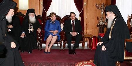 Президент Кипра встретился с Патриархом Иерусалимским