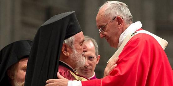 Престольный праздник Ватикана посетила делегация Константинопольского Патриархата