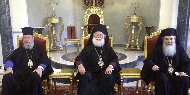 Патриарх Александрийский и Архиепископ Кипрский посетили Патриарха Иерусалимского
