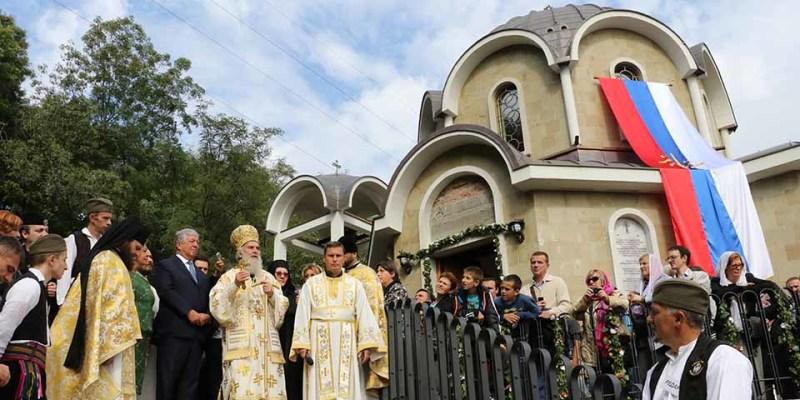 Патриарх Сербский Ириней возглавил освящение восстановленного средневекового монастыря св. Христофора в Мислочине