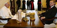 Папа Франциск принял президента Турции Р.Эрдогана
