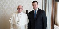 Папа Римский Франциск принял в Ватикане премьер-министра Эстонии