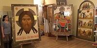 Сотрудники художественной мастерской ПСТГУ участвуют в написании иконостаса для нового храма в Хорошево