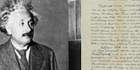 Письмо о Боге Альберта Эйнштейна выставлено на аукцион Christie's с начальной ценой в 1 млн. долларов