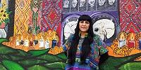 В США ацтекские жрецы и целители сjвершили обряды перед священной фреской