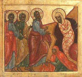 Воскрешение Лазаря. Икона XVIII в.