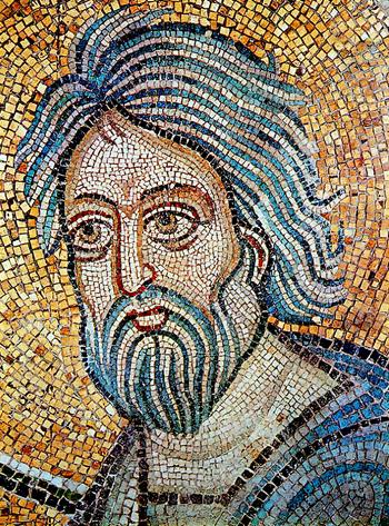 Ап. Андрей. Мозаика апсиды собора св. Софии в Киеве. Фрагмент композиции