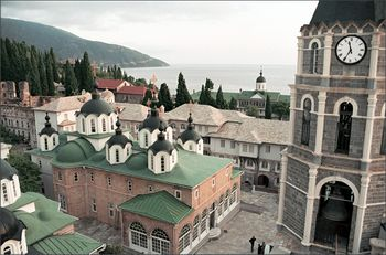 Русский монастырь на Афоне. Фото - сайт Валаамского монастыря