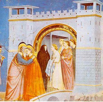 Джотто. Встреча Иоакима и Анны