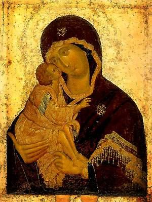 Донская икона Пресвятой Богородицы. Феофан Грек, XIVв.