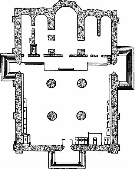 Схема расположения погребений