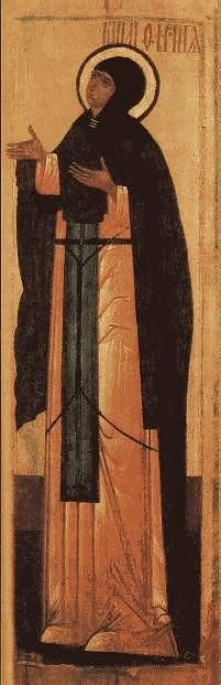Св. Феврония Муромская. икона XVI в.