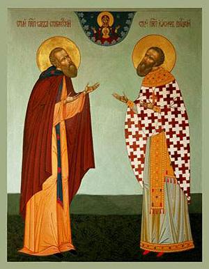 Преподобные Савва Сторожевский и Иосиф Волоцкий