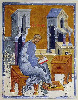 Матфей, миниатюра прп. Андрея Рублева, XV в.