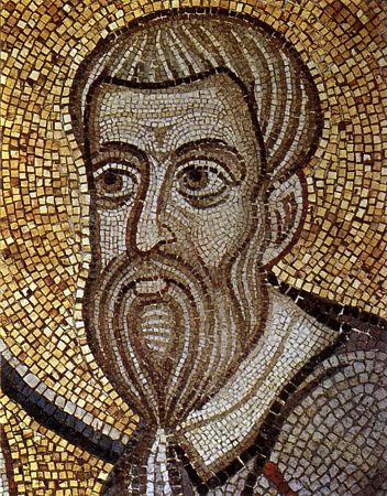 Евангелист Матфей, мозаика