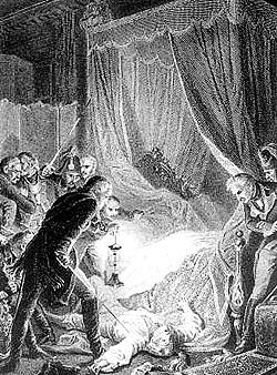 Сцена убийства Павла I, гравюра