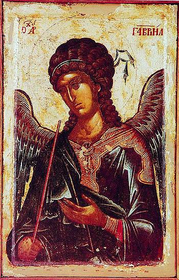Архангел Гавриил. Икона, 3-я четверть XIV в., монастырь Хиландар