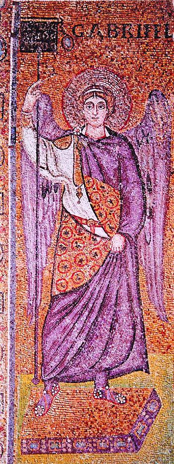 Архангел Гавриил. мозаика Сант-Аполлинаре ин-Классе в Равенне. Около 549 г