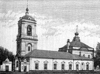 Храм Преображения Господня на Преображенской площади Москвы