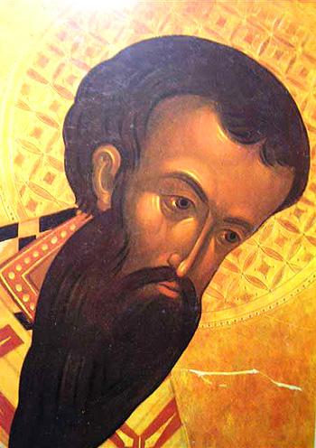 Свт. Василий Великий. Арх. Зенон (Теодор), фрагмент фрески