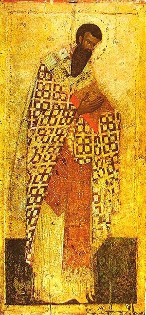 Свт. Василий Великий. Благовещенский собор Московского Кремля. Посл. четв. XIV в.
