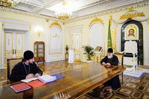 Состоялась рабочая встреча Святейшего Патриарха Кирилла с архиепископом Ереванским и Армянским Леонидом